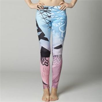 Fox Casuals Casuals Pop Rox - Womens Leggings Casual Pants Ice/Blue MD Perfmoto.com