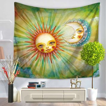 Indian Sun Moon Tapestry Mandala Tapestry 130*150/150*200cm Abstract Wall Tapestry Yoga Mat Home Decor Carpet toalla mandalas