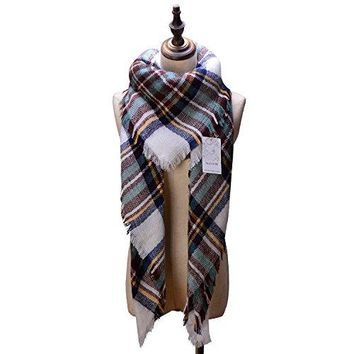 Neck Stole Plaid Checked Scarf