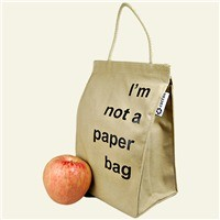 """reuseit Made in USA Lightweight Recycled Cotton Lunch Bag, """"I'm Not A Paper Bag"""""""