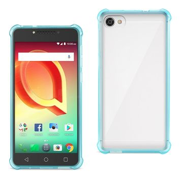 Alcatel Crave Clear Bumper Case With Air Cushion Protection  (Clear Navy)