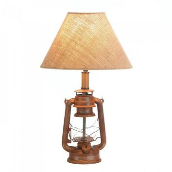 Vintage Camping Lantern Table Lamp