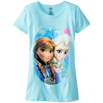 Frozen - Elsa and Anna Scene Girls Youth T-Shirt