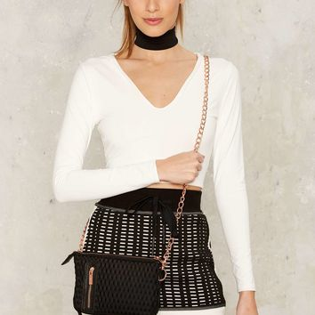 Lime & Vine Tai Mesh Crossbody Bag