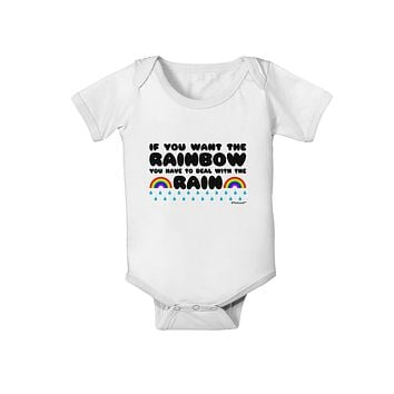 If You Want The Rainbow Quote Baby Romper Bodysuit by TooLoud