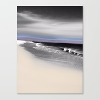 Lovely Twilight Seascape 2 Canvas Print by Jen Warmuth Art And Design