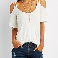 COLD SHOULDER CUT-OUT TOP