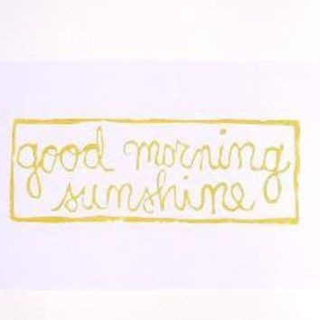 PRINT Good morning sunshine MUSTARD YELLOW BLOCK by thebigharumph