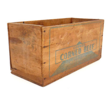 Vintage Box Wooden Box Crate Primitive Antique Storage