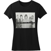 Bring Me The Horizon  B&W Group Shot Junior Top Black