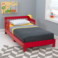 KidKraft Houston Toddler Bed - Red  - 76243
