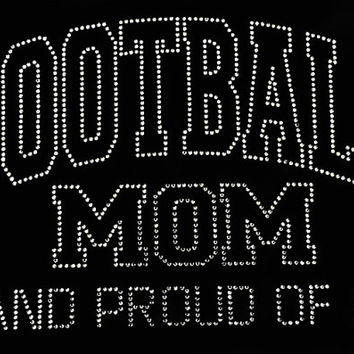 Rhinestone Football Mom T-Shirt - Bling Shirt
