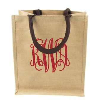 CLEARANCE Jute & Cotton Blend Tote Bag / Shopping Bag / Gift Bag