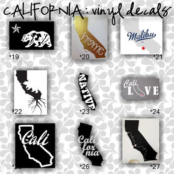 "LARGE 10""-14"" - CALIFORNIA vinyl decals - 19-27 - car decal - car sticker - laptop sticker - decal"