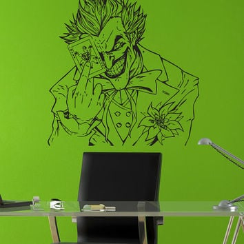 Joker Holding Playing Card Batman Wall Art Sticker Decal tr054