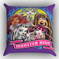 Monster High Z0708 Zippered Pillows  Covers 16x16, 18x18, 20x20 Inches