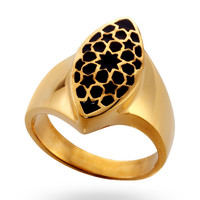 Gold & Black Flurita Ring
