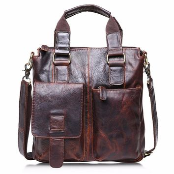 OCARDIAN mochila Vintage Buffalo Leather Messenger Satchel Laptop Briefcase Men's Bag Crazy Made in China Casual #30 2017 Gift