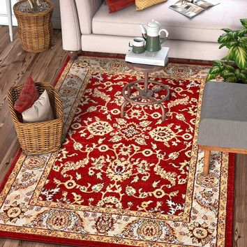6117 Red Persian Vintage Oriental Area Rugs