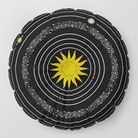 Solar System Sun & Planets Floor Pillow by inspiredimages