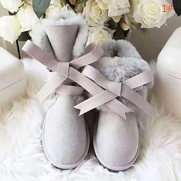 UGG High quality new fashion bow-knot keep warm personality shoes women