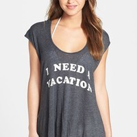 Wildfox 'I Need a Vacation' Cover-Up & Bikini Bag