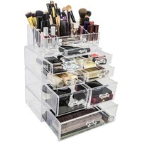 Set of Acrylic Drawers with Sectional Organizer, Large, Total 7 Drawers with 16 Sectional - Walmart.com