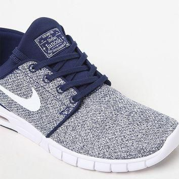 Tagre™ Nike SB Stefan Janoski Max Knit Blue and White Shoes at PacSun.com