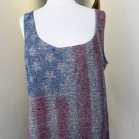 American Flag Tank Tops with cute back