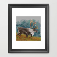 Caribou  Framed Art Print by North Star Artwork