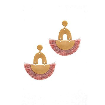 Trendy Fan Tassel Drop Chic Earring