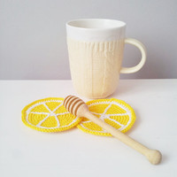 Lemon Coasters (set of 4) ,lemon slice coasters,decorative coasters,christmas stocking stuffers,mothers day gift ideas