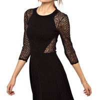 French Connection Vienna Lace Skater Dress with Full Skirt