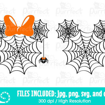 Mickey and Minnie Spider Web SVG, Halloween Spider Web SVG, Disney Digital Cut Files in svg, dxf, png and jpg, Printable Clipart
