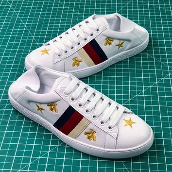 Gucci Ace Sneaker With Bees And Star Sneakers - Best Online Sale