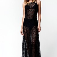 Kendall & Kylie Lace Maxi Dress - Womens Dress - Black