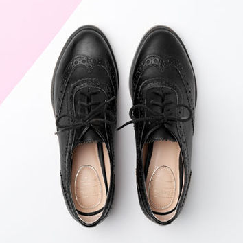 Bershka United Kingdom - Bershka stamped derby shoes