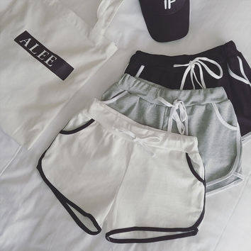 Lacing Running pants - White/Grey/Black