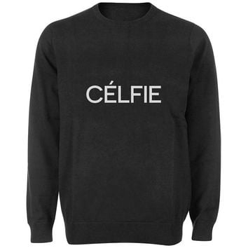 celfie sweater Black and White Sweatshirt Crewneck Men or Women for Unisex Size with variant colour