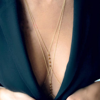 Gold Sexy Chain Women Necklaces & Pendants Tassel Alloy Punk Long Necklace New Designer Female Fashion Jewelry
