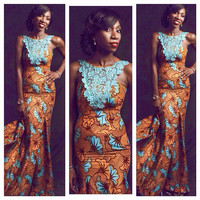 African Clothing African Maxi Dress African Gown Ankara Maxi Gown