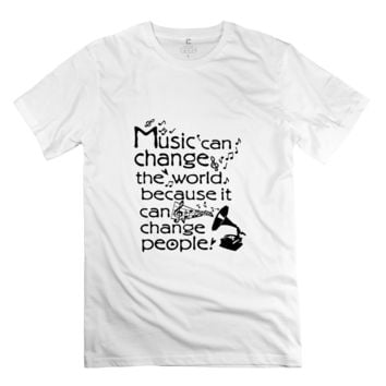 """""""Music can change the world"""" Men's t shirts"""