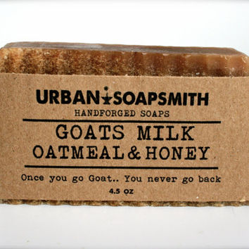 Oatmeal Goats Milk & Honey - Cold Process Soap, GoatsMilk, Bar Soap,  All Natural Soap, Handmade Soap, Mens Soap, Unisex Soap