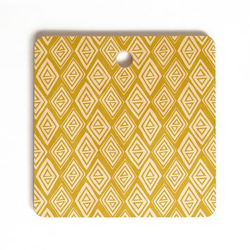 Heather Dutton Diamond In The Rough Gold Cutting Board Square