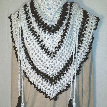 White Road Trip Scarf Ladies Scarf Mens Scarf Triangle Scarves for Women Christmas Holiday Anniversary Birthday Valentines Mothers Day Gift