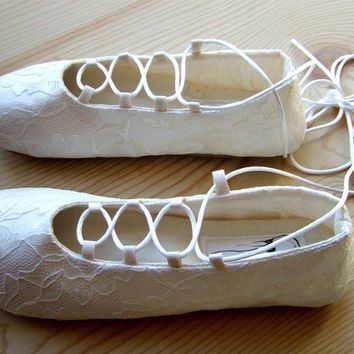 Custom Bridal Flats by HydraHeart on Etsy2