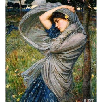 Boreas Art Print by John William Waterhouse at Art.com