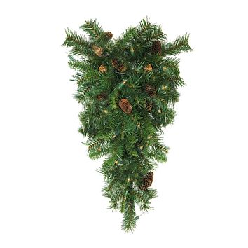 6.5' Pre-Lit Northern Pine Full Artificial Christmas Tree - Clear Lights