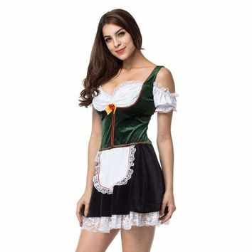 Beer Girl German Women Dress Sexy Mini Dress Plus Size Halloween Maid Dress Cosplay Oktoberfest Wench Costume Stage Play