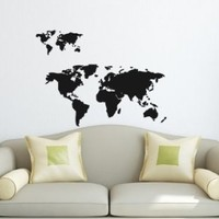 Wall Vinyl Decal Sticker Art Design World Map Room Nice Picture Decor Hall Wall Chu1160